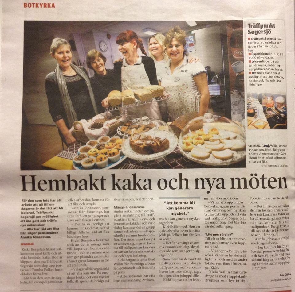 Café & Träffpunkt Segersjö i Tumba Folkets Hus